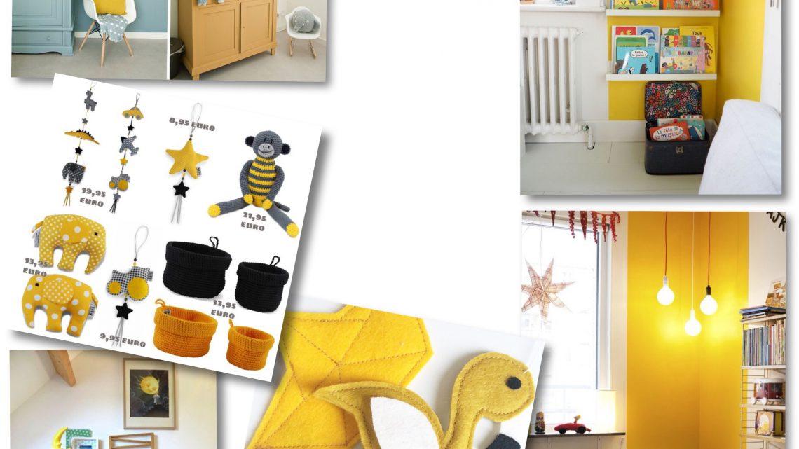 Moodboard -en lekker shoppen, voor een gele kinderkamer!