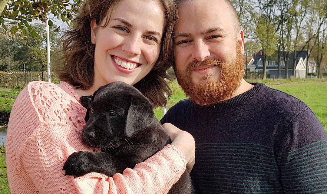 Interview: Jaydene en haar man Sebastiaan zijn puppypleeggezin voor KNGF geleidehonden